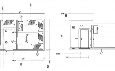 부식창고 및 냉장창고
